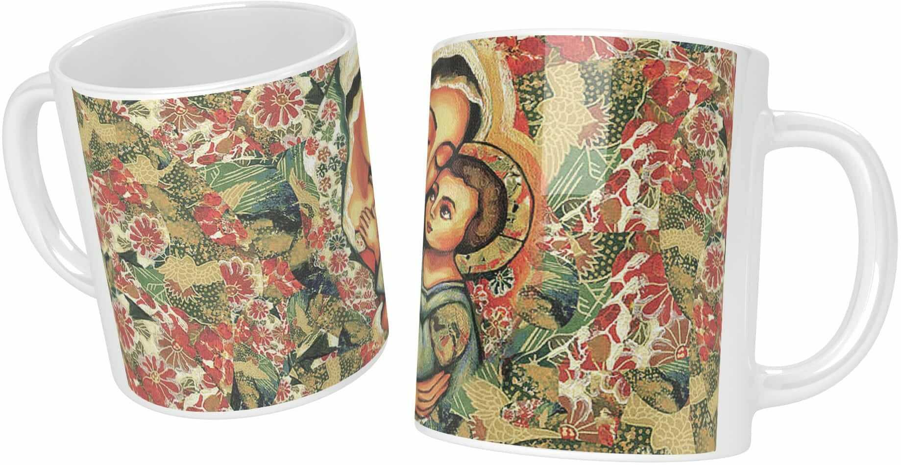 Kubek ceramiczny, Matka Boża