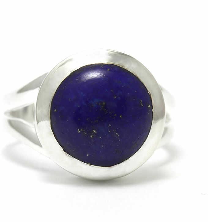 Kuźnia Srebra - Pierścionek srebrny, rozm. 12, Lapis Lazuli, 6g, model