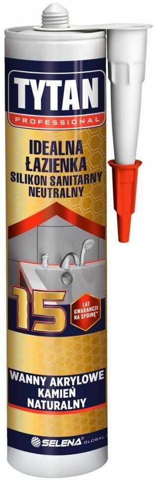 Silikon sanitarny IDEALNA ŁAZIENKA 280 ml Biały TYTAN