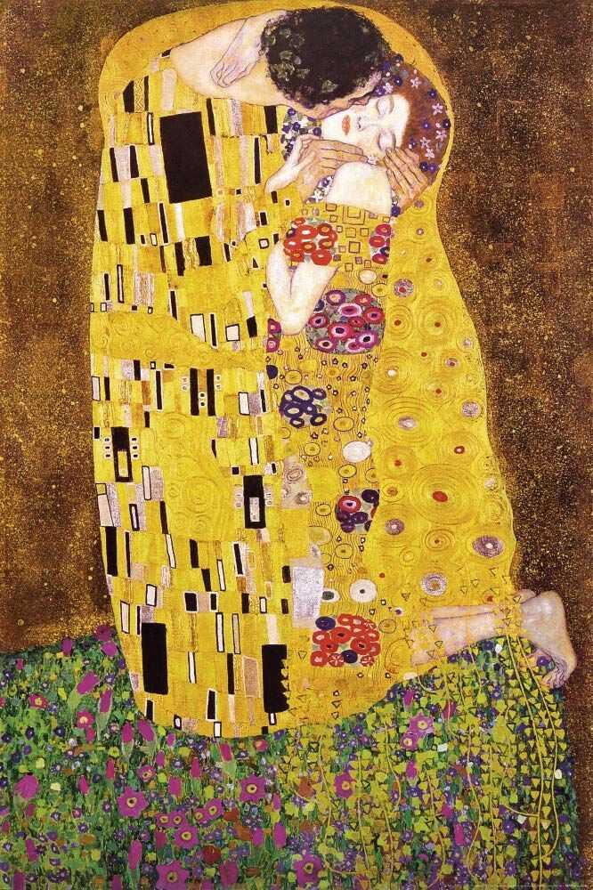 1art1 34929 Gustav Klimt - Der Pocałunek - Il bacio (z) plakat (91 x 61 cm)