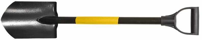 Szpadel ostry metalowy trzonek plastikowy uchwyt 15G010