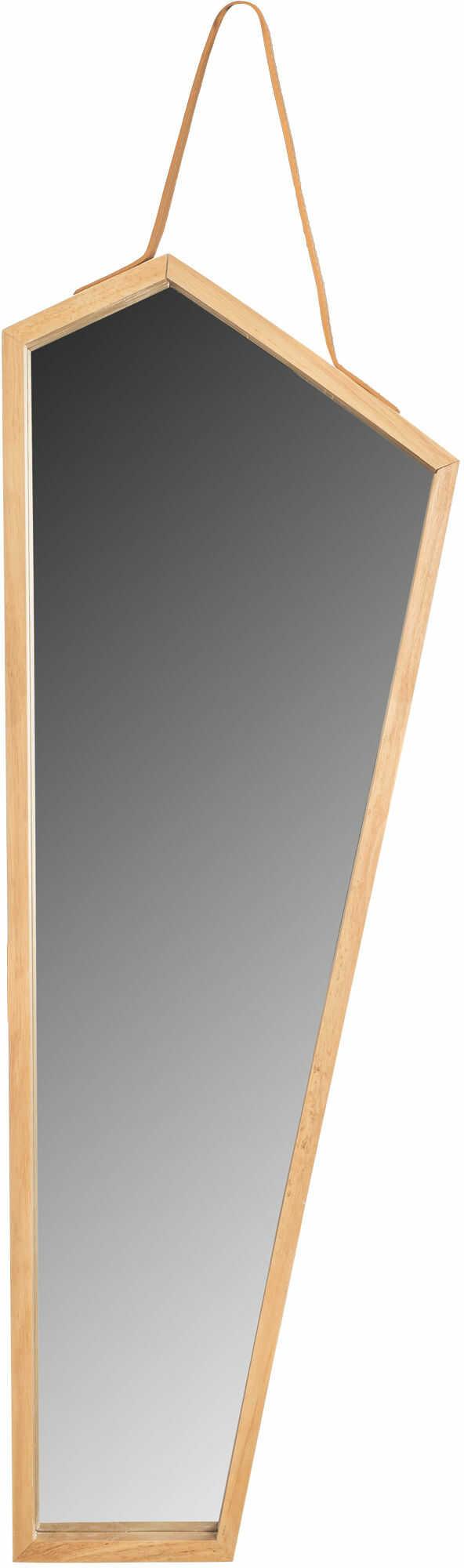 Tutumi Lustro Asymetryczne Drewniane na Pasku 85 cm YMJZ20217