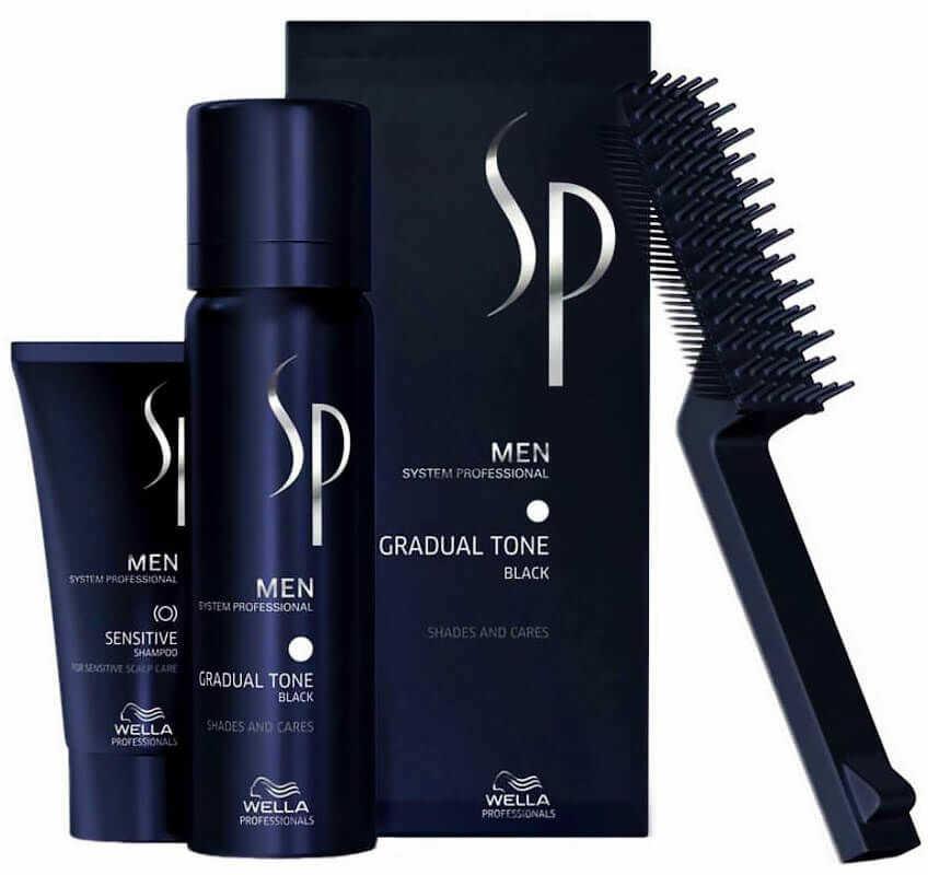 Wella SP Men Gradual Tone Black pianka przywracająca naturalny kolor włosów, odsiwiacz - czarny