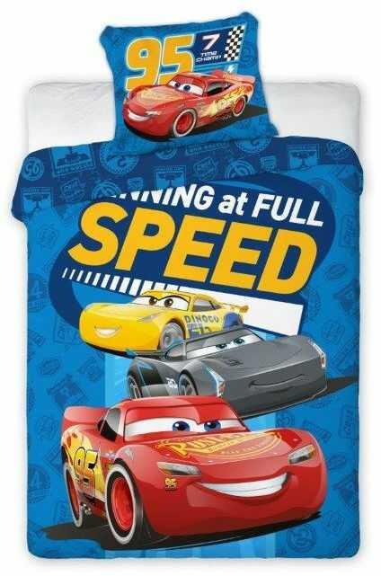 Pościel do łóżeczka 100x135 Cars Samochody
