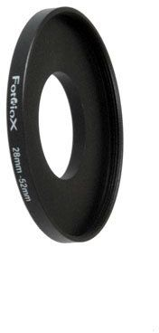 Fotodiox 28-52 mm, metalowy pierścień krokowy 28-52 mm - anodowany czarny metal, 04sr2852