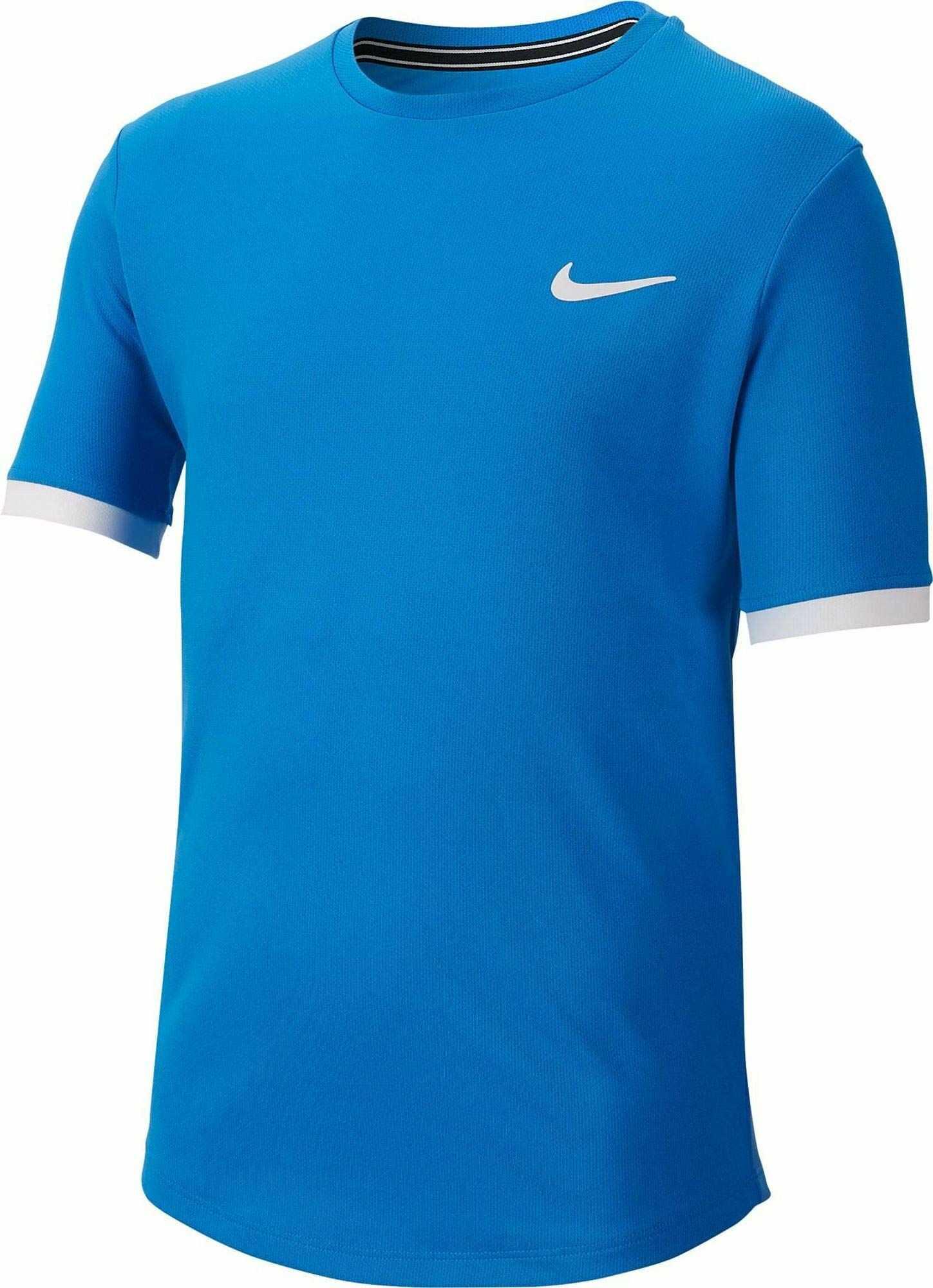 Nike chłopięcy T-shirt Nkct Dry Boys T-shirt Signal Blue/White/White S