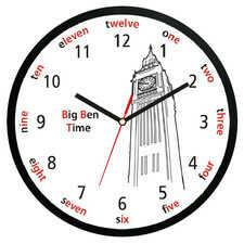 Zegar ścienny z dżwiękiem Big Ben