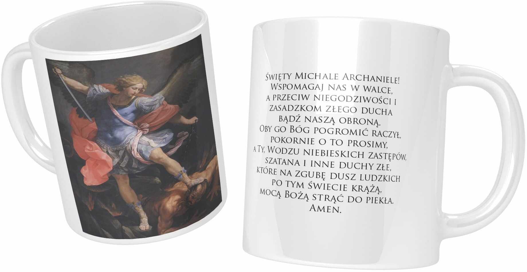 Kubek ceramiczny, Archanioł Michał