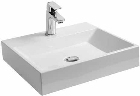 Ravak umywalka Natural 50 cm biała z otworem bez przelewu XJO01250000