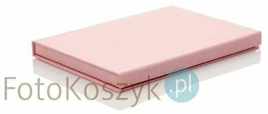 Pudełko SF linum pastel różowe na zdjęcia 13x18 (do 50 zdjęć)