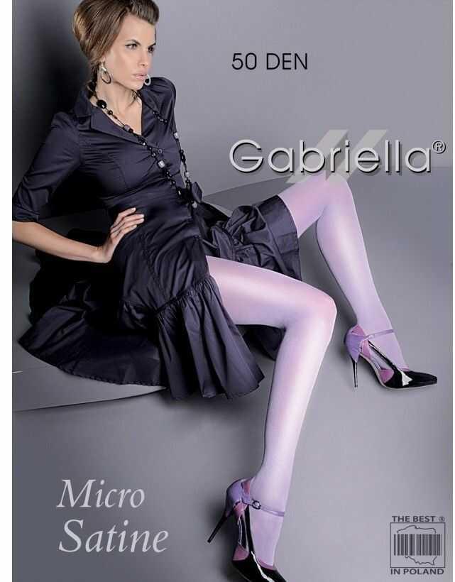 Micro satine 50 den gabriella z satynowym połyskiem rajstopy