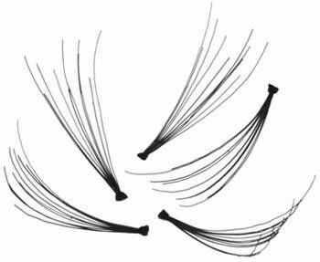 Sztuczne RZĘSY KĘPKI Czarne Gęste 10mm 60szt - białe opakowanie