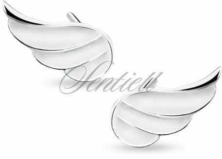 Srebrne (925) kolczyki skrzydła - rodowanie