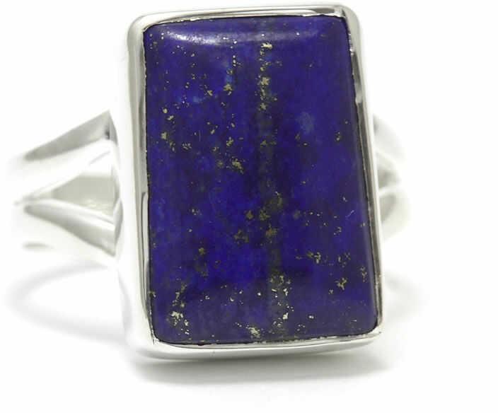 Kuźnia Srebra - Pierścionek srebrny, rozm. 14, Lapis Lazuli, 6g, model