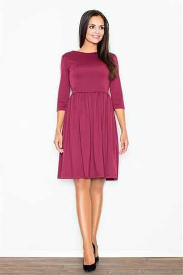 Sukienka Finezja M117 bordowa
