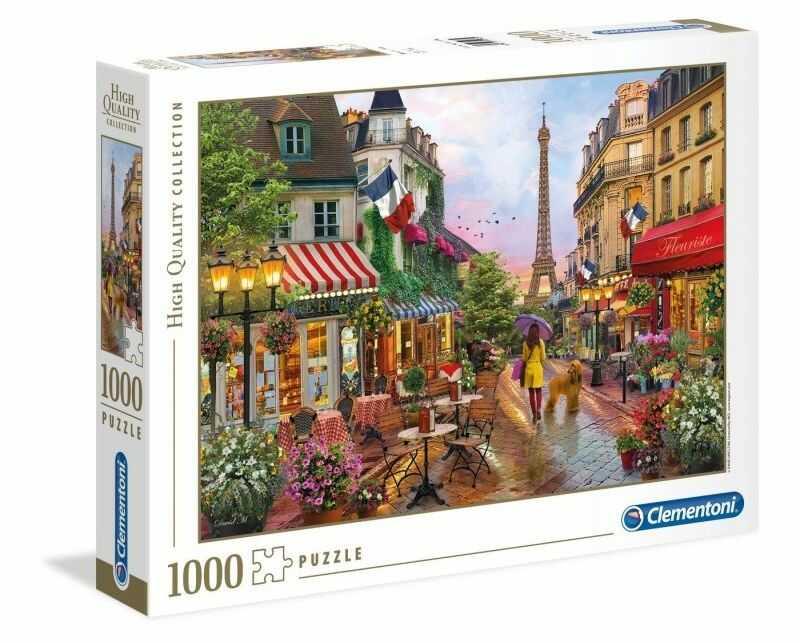 Puzzle Clementoni 1000 - Kwiaty w Paryżu, Flowers in Paris