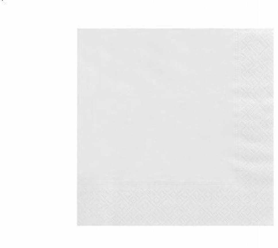 Serwetki 3-warstwowe 33 cm, białe - 20szt.