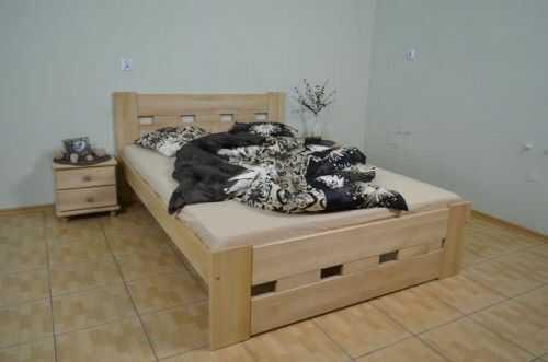 Łóżko z drewna bukowego Prostokąt 160x200