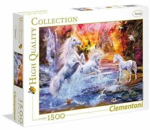 Puzzle Clementoni 1500 - Dzikie Jednorożce, Wild Unicorns