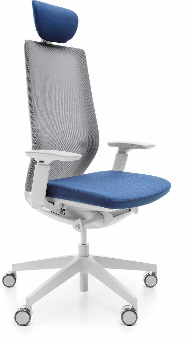 Fotel Accis Pro 151SFL TYP B Jasnoszare, z zagłówkiem i systemem HPS