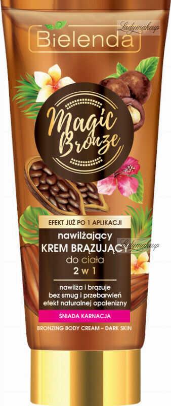 Bielenda - Magic Bronze - Bronzing Body Cream - Dark Skin - 2w1 Nawilżający krem brązujący do ciała - Śniada karnacja - 200 ml