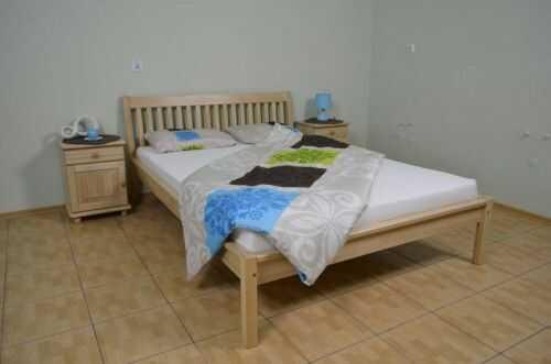 Łóżko z drewna bukowego Ida 140x200