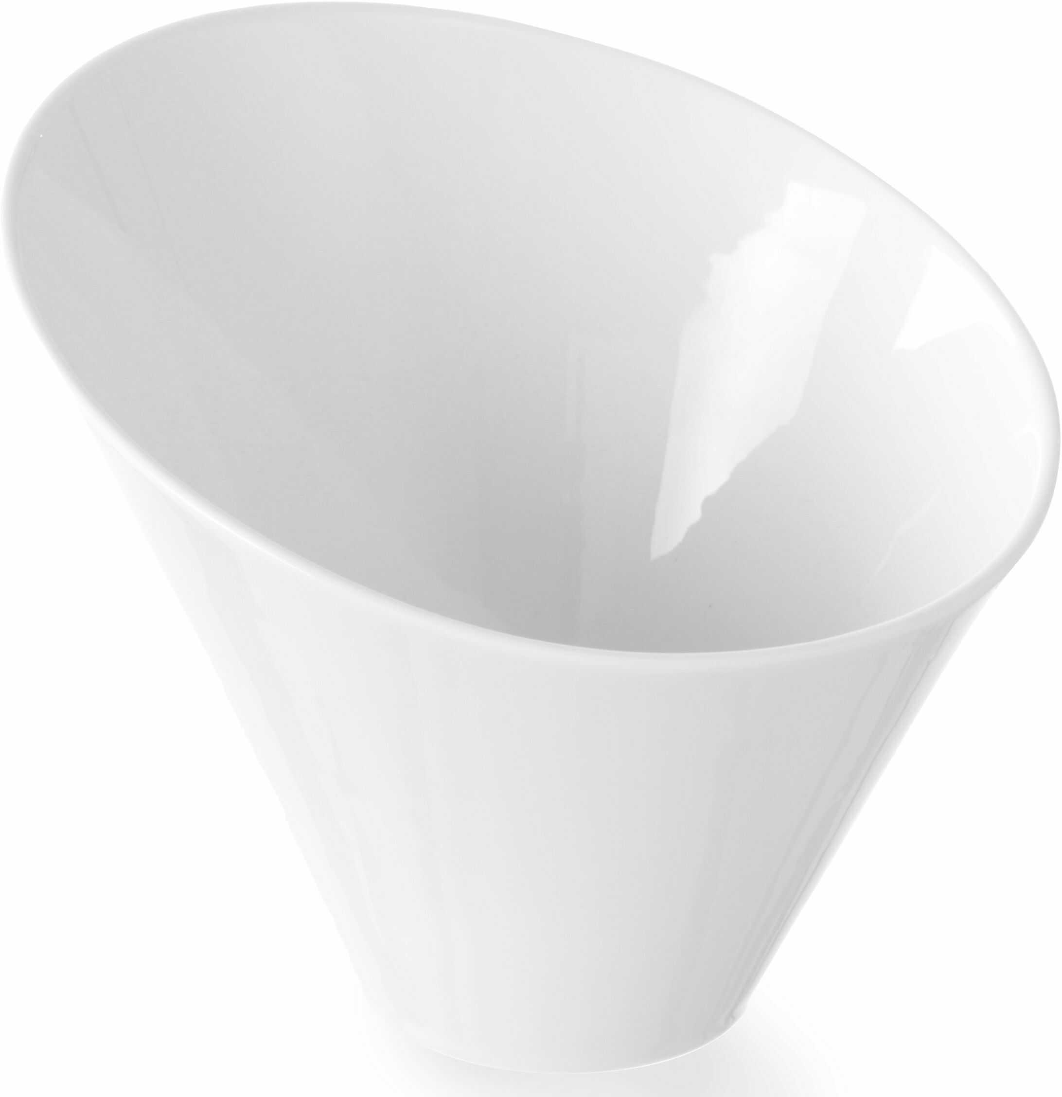 Salaterka porcelanowa skośna