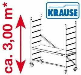 Rusztowanie jezdne, aluminiowe ProTec Krause 3m robocza 910110