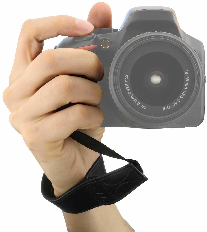MegaGear ultralekki pasek na rękę ze skóry do wszystkich aparatów fotograficznych  czarny
