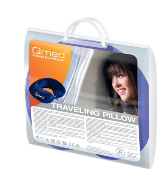 Podróżna poduszka z pamięcią kształtu - rogal (Traveling Pillow QMED)