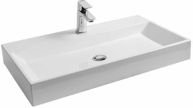 Ravak umywalka Natural 80 cm biała z otworem bez przelewu XJO01280000