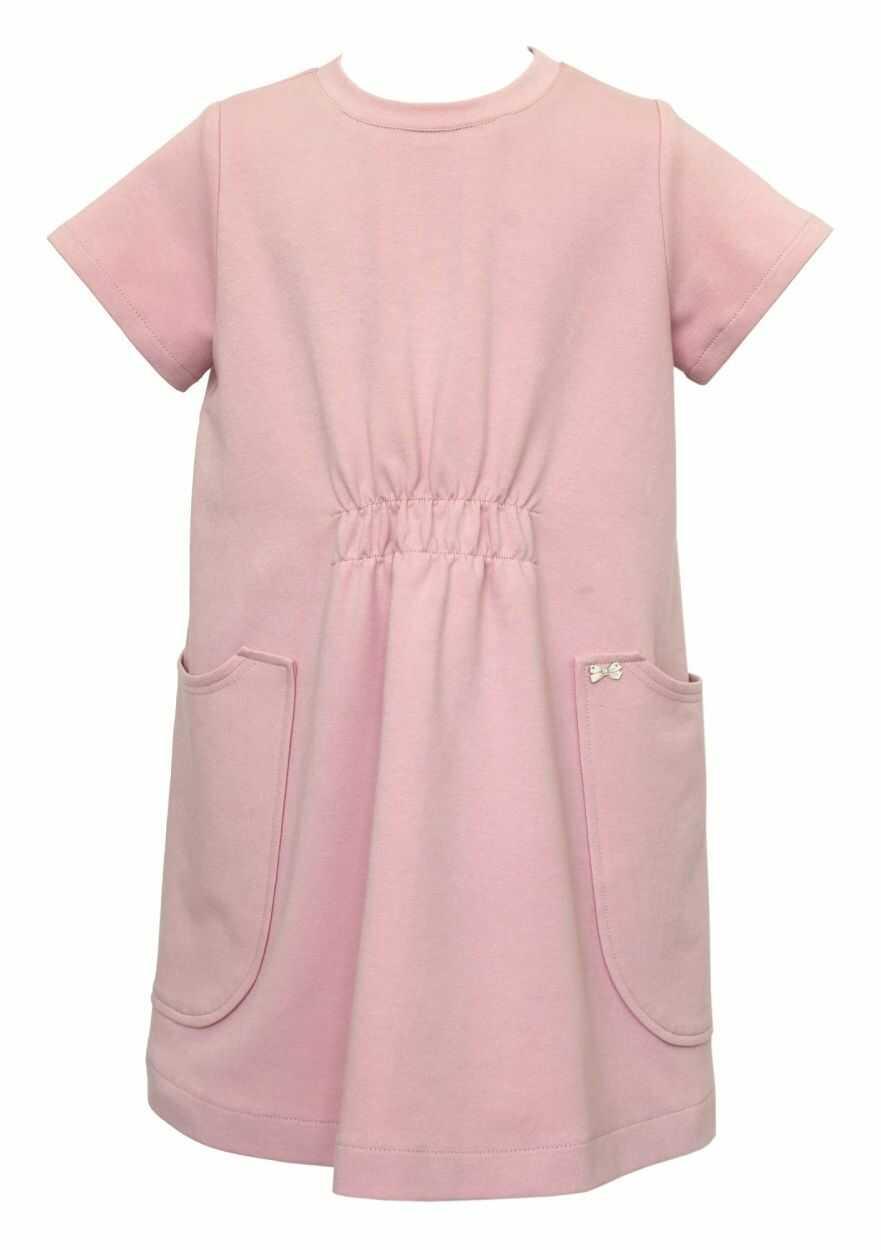 Dziewczęca sukienka w luźnym stylu 128-164 29A/J/19 róż