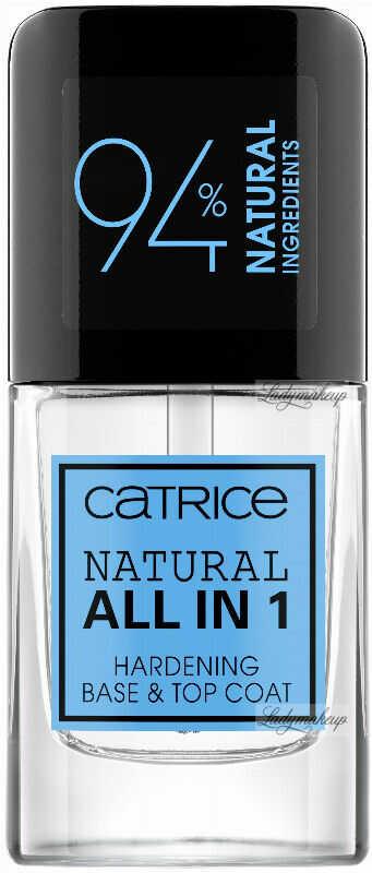 Catrice - NATURAL ALL IN ONE - HARDENING BASE & TOP COAT - Naturalna, utwardzająca baza i lakier nawierzchniowy do paznokci - 10,5 ml