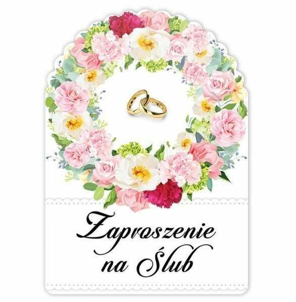 Zaproszenie ślubne 1szt zs1014