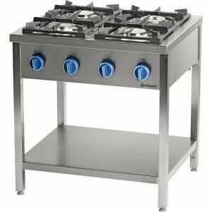 Kuchnia gazowa wolnostojąca 4-palnikowa z półką 22,5 kW G20 Stalgast 979521