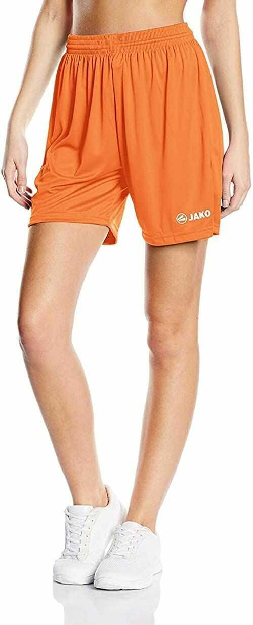 JAKO Manchester damskie spodnie sportowe pomarańczowa pomarańczowy neonowy 4