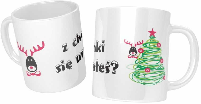 Kubek na Boże Narodzenie z humorem