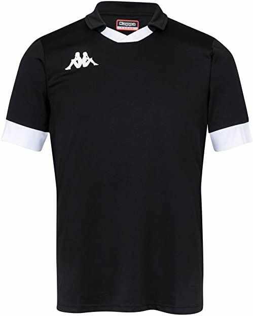Kappa Męska koszulka polo Tranio czarny czarny/biały XXL