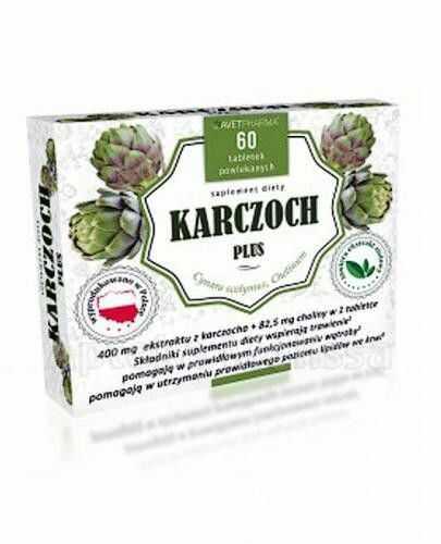 Karczoch Plus, 60 tabletek