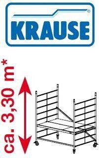 Rusztowanie jezdne, aluminiowe o szerokiej konstrukcji ProTec XXL Krause 3.3m robocza 911117