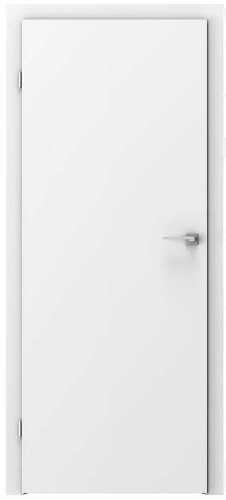 Skrzydło drzwiowe pełne Basic Białe 70 Lewe Voster