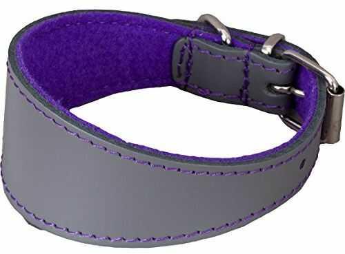 Arppe 195466050156 obroża Galgo lub skóra filc orinoco, szary i fioletowy