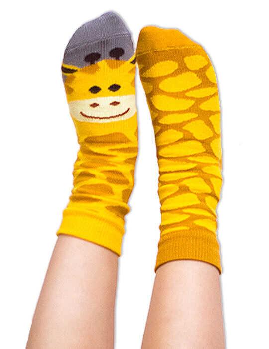 Skarpety kolorowe dla dzieci żyrafa - Gigi Giraffe