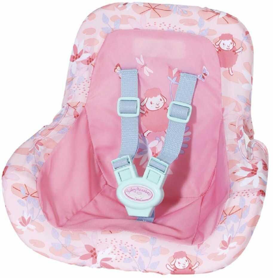 Baby Annabell 705964 Aktywny fotelik samochodowy dla małych dzieci od 3 lat i w górę - zabierz ją gdziekolwiek - ze zintegrowanym paskiem