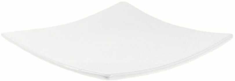 Świecznik ceramiczny KWADRAT 13 x 13 cm biały