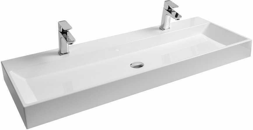 Ravak umywalka Natural Duo 120 cm biała z otworem bez przelewu XJO01212000