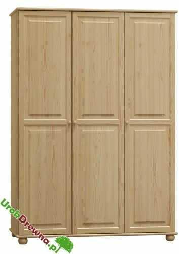 Szafa sosnowa 3 drzwiowa 120 ( nr Kat. 63)