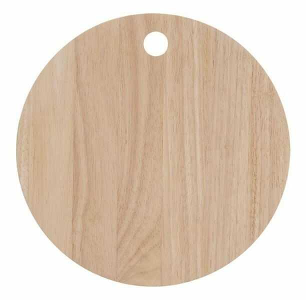 A Simple Mess NATURE Deska z Drewna Kauczukowego 20 cm do Krojenia lub Serwowania