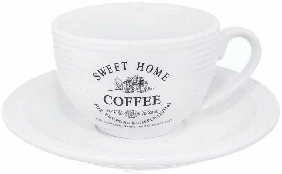 Filiżanka ceramiczna + podstawka 0,25L SWEET HOME