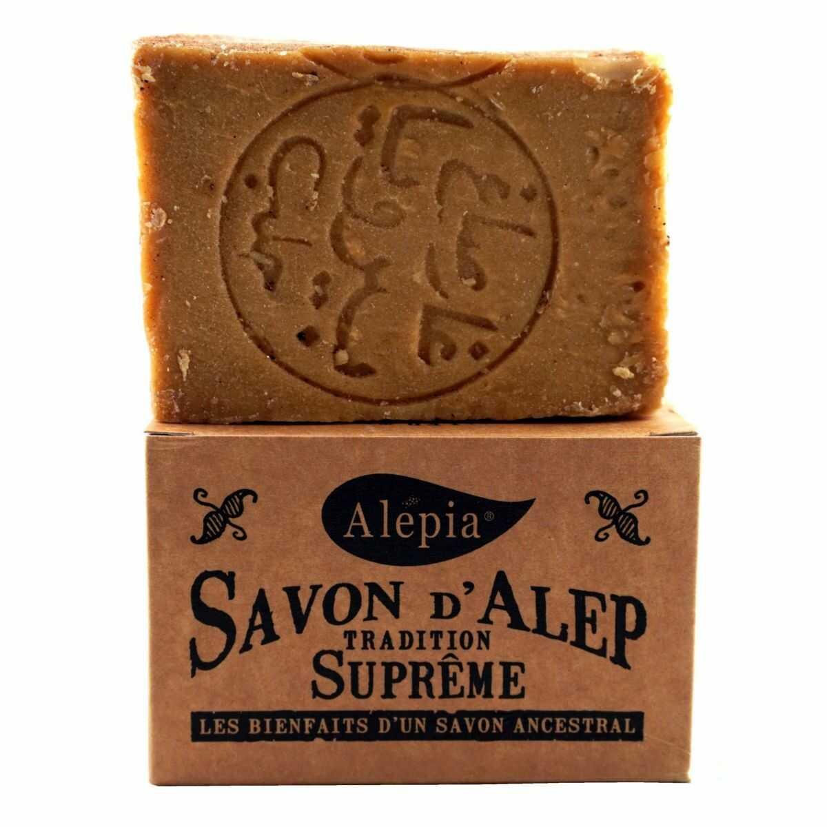 Mydło z Aleppo Supreme o zawartości 1% oleju laurowego - 190g - Alepia